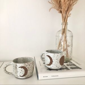 Stoneware Moon Phase Mug Set